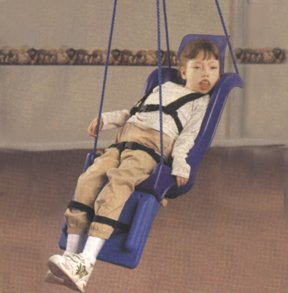 Support complet Siège de balançoire à pommeau, complète avec la tête et repose-jambes, Large (Adulte)