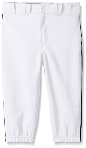 Easton Boys PRO Plus Piped Knicker, White/Navy, X-Large - Easton Pro Pant