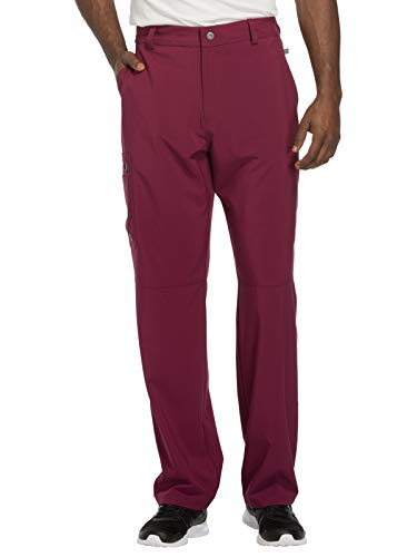 Cherokee Infinity CK200A Men's Fly Front Cargo Pant Wine L Tall