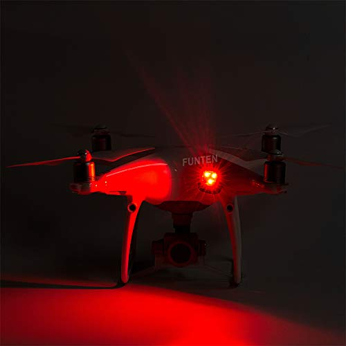 Drone Strobe Lights Led flash light for Night cruise Drone Strobe for DJI Spark Inspire 1 2 Mavic Air Pro 2 Phantom 3 4 RC Aircraft Red Color