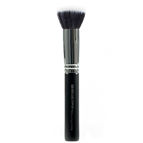 Beauty Junkees Pro Duo Fiber Large Stippling Makeup Brush to Blend Liquid Foundation for a Sheer Flawless Skin Perfecting Finish, Synthetic, Vegan, Cruelty (Professional Stippling Brush)