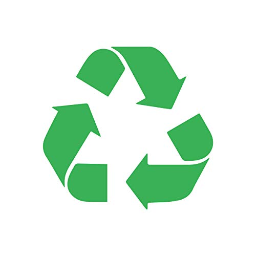 Waste Decals Recyclable - Bargain Max Decals - Recycle Logo Sticker Decal Notebook Car Laptop 3