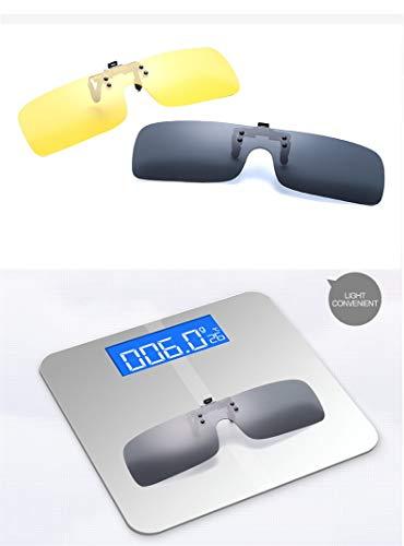 Gafas Clip Elegantes conducción Polarizadas cómodos de Mujeres de Rectángulo y Gafas Sol pesca Color exterior Lens Mirrored 3 sol miopes Men en para Clips FxRt6F4