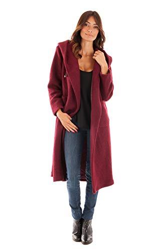 Doucel Mujer Capucha Rojo Largo Du Con Comptoir Coat qq1AUa