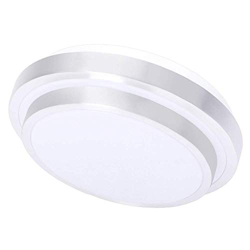 (Drosbey 15W LED Flush Mount Ceiling Light, Mini Style 8in, 100W Incandescent Bulbs Equivalent, 1200 Lumens, 5000K Daylight White, Round Lighting Fixture for Kitchen, Hallway, Bathroom, Bedroom)
