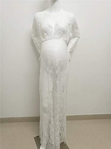 8bc78f10be5e0 Le Couple Maternity Photography Props Maxi Maternity Gown Lace ...