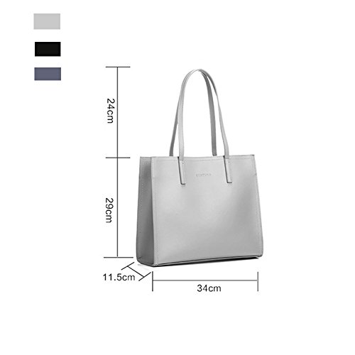 Bagsimple Ladies Gray Handbagshoulder Lady And Light Fashion High capacity Bagsbig Bagcommuter Bag YwxwUP4nEO
