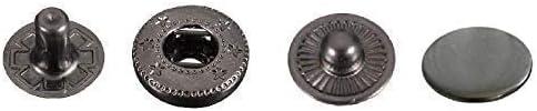 Trimming Shop 12.5mm S Primavera Botones a Presión 4 Parte, Durable y Ligero, Metal Cierres para Chaquetas, Jeans, Cuero Manualidades, Tiras y Costura Proyectos, Ropa Reparación - Gunmetal, 100