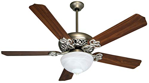 Indoor Ceiling Fans 2 Light Fixture with Brushed Satin Nickel Finish Medium Bulb 22