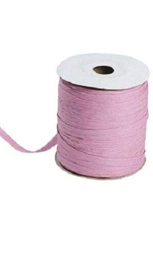 Rose Pink Matte Raffia Ribbon Gift Wrap Wedding 1/2'' Wide 500 Yards Bow by retail-warehouse