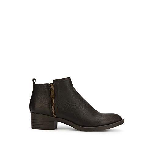 Kenneth Cole New York Levon Leather Bootie with Chunky Heel ()