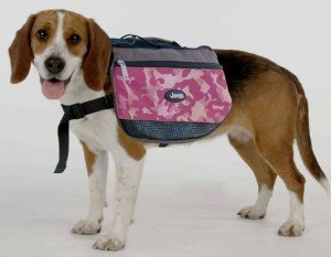 Green Camouflage Backpack for Dogs By Jeep