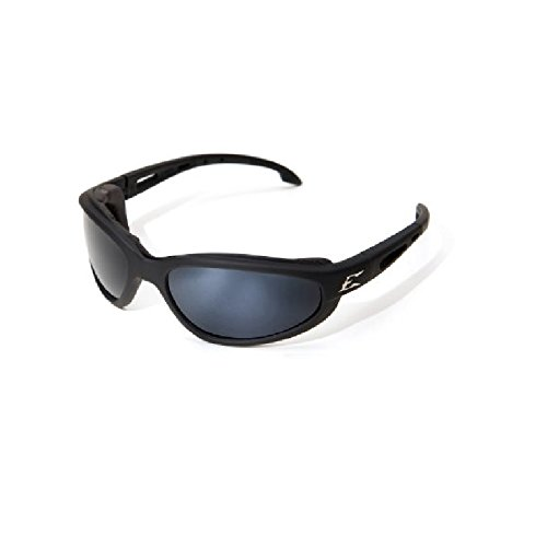 Edge Eyewear Dakura Polarized-Black / G-15 Silver Mirror Lens with Gasket (Mirror G15 Silver Lens)