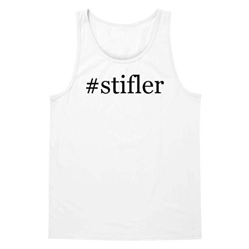 The Town Butler #Stifler - A Soft & Comfortable Hashtag Men's Tank Top, White, Large