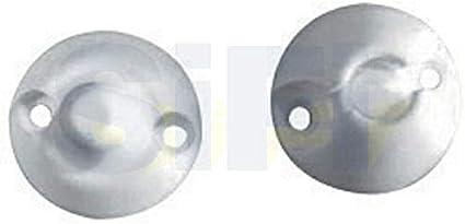 FERMA PORTA AD INCASTRO Bianco In Plastica Per Camper//Roulotte