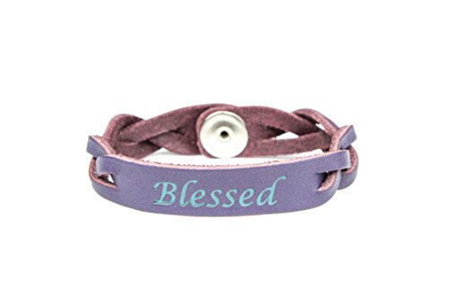 Leather Essential Diffuser Bracelet BLESSED