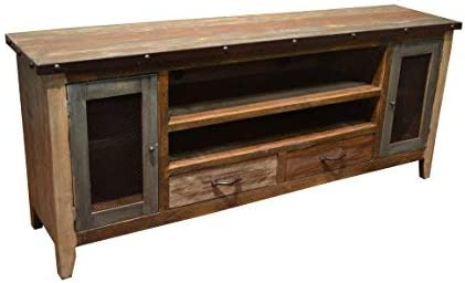 Crafters Weavers Bayshore 76 Inch Antique Finish TV Stand Media Console