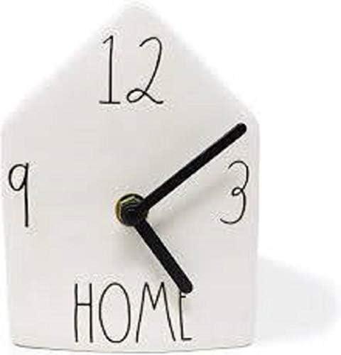 Rae Dunn by Magenta Home Ceramic LL Birdhouse Desk Shelf Clock 2019 Limited Edition
