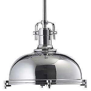 Chrome Dome Pendant Light