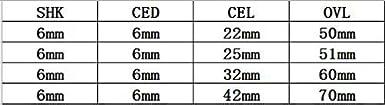 5PCS 6X6X22MM EU/_HOZLY SHK 6 mm CED 6 mm massives Hartmetall Doppelspiralschneider CNC-Fr/äser 5 St/ück