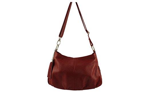 In Main Italie Made sac Coloris Rouge Sac Francesca Cuir Plusieurs Chloly A Foncé Francesca Bandouliere Bandoulière BY7wAxIqX