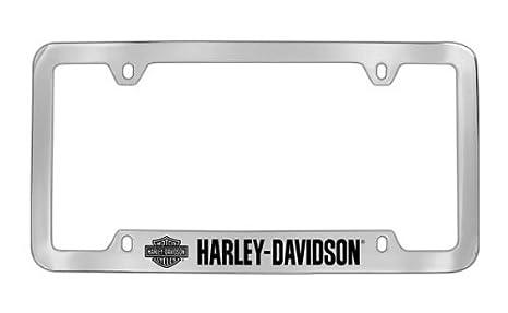 Harley-Davidson Coche camión SUV License Plate Frame Metal – Script W/Bar &