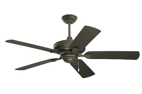 Emerson Ceiling Fans CF552GES Veranda 52-Inch Indoor Outdoor Ceiling Fan, Wet Rated, Light Kit Adaptable, Golden Espresso - Emerson Indoor Fans