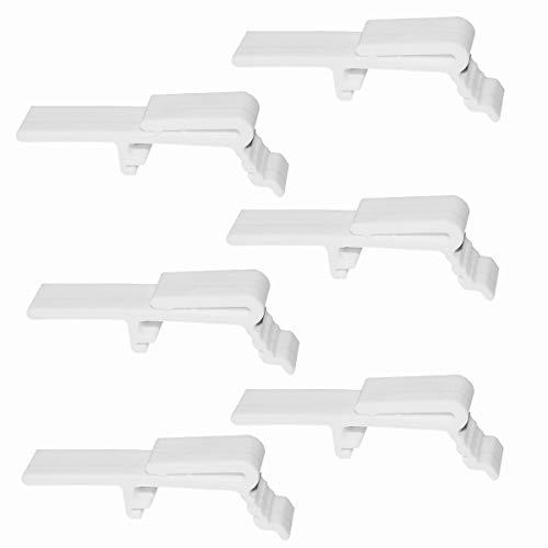 Cutelec Vertical Blind Dust Cover Valance Clip Holder Bracket - 6 Pieces (Blinds Clip Holder Bracket)