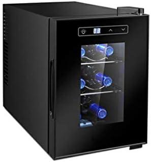 6 Botellas Vinoteca Nevera para Bebidas de Vino del Refrigerador del Refrigerador 7-18 ℃ Temperatura Zona de Bebida de la Bebida Frigorífico Puerta De Vidrio Se Ajusta Cocina Sala de Estar Oficina
