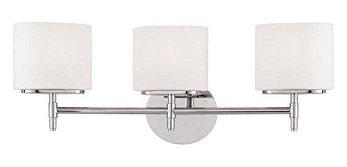 Polished Chrome Trinity 3 Light Bathroom Vanity Fixture