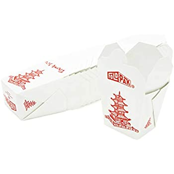 Amazon Com Pack Of 15 Chinese Take Out Boxes Pagoda 32 Oz