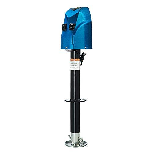 HOTSYSTEM Electric Power A-Frame Tongue Jack Height Adjustable Electric Trailer Jack 4000 lbs 12V for RV Trailer Camper