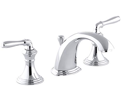 KOHLER Devonshire 2-Handle Widespread Bathroom Sink Faucet with Metal Drain Assembly in Polished Chrome, K-394-4-CP
