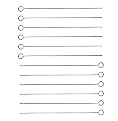 12 Stainless Steel Barbecue Skewers