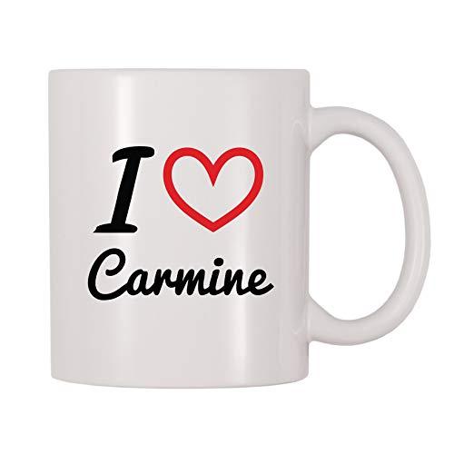 4 All Times I Love Carmine Personalized Name Coffee Mug (11 oz)