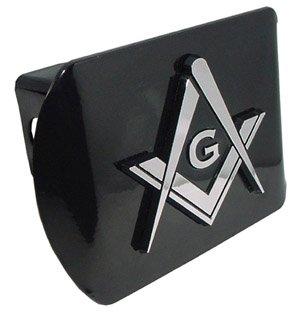 Elektroplate Mason ALL METAL Black Hitch Cover MASON-BLK-HC