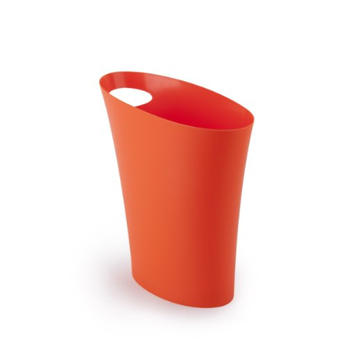 Umbra Skinny Polypropylene Waste Can, Orange