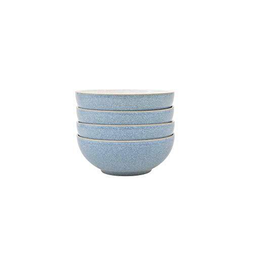 Denby Elements 4 Piece Cereal Bowl Set, Blue ()
