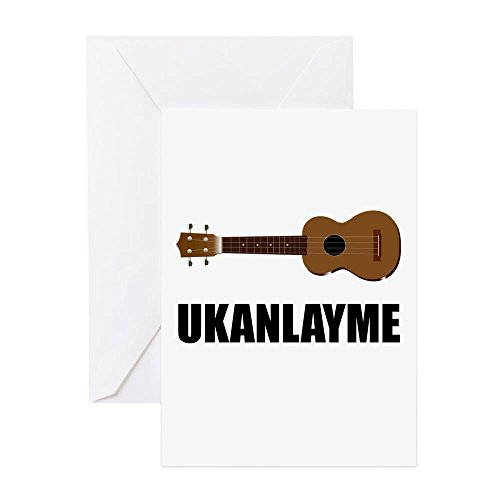 CafePress - Ukanlayme Ukulele - Greeting Card, Note Card, Birthday Card, Blank Inside - Cards Single Christmas Guy