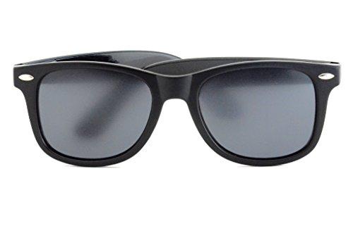 Polarized All Black Original Wayfarer Sunglasses - New Rubber Frame Design - Cool, Comfortable, California Sunglasses for Men & Women (Wayfarer Discounted Ray Bans)