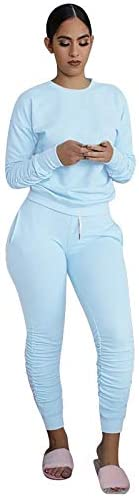 Outfits for Women 2 Piece Sets,Sweatsuit Set Two Piece Outfits Top Skinny Long Pants Tracksuits Jogging Suits Jumpsuits