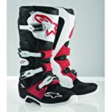 Alpinestars Tech 7 Men's Off-Road Motorcycle Boots - Black/White/Red / 13