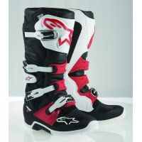 Alpinestars Tech 7 Men's Off-Road Motorcycle Boots - Black/White/Red / 10