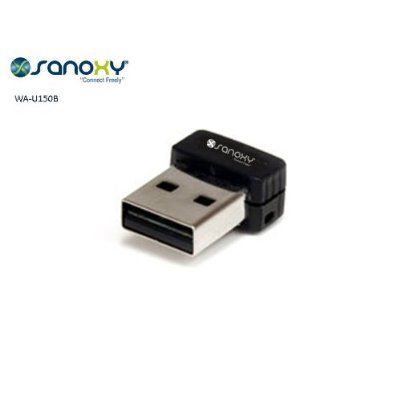 SANOXY Mini USB 2 0 Wireless 150Mbps Network Adapter & WiFi Access Point  with One-Clcik set up WPS button for high-speed data transfers, Peer-to  Peer