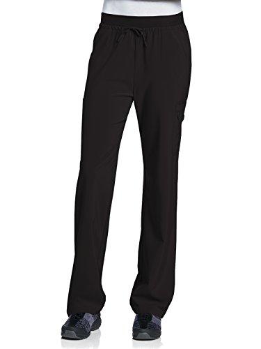 Urbane Performance 9323 Quick Cool Zipper Leg Cargo Scrub Pant Black XS