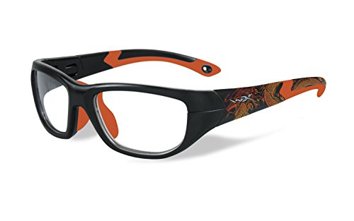 Price comparison product image Wiley X WX New Products Youth Force Victory Sunglasses Matte Black Dragon Sonic Orange YFVIC04