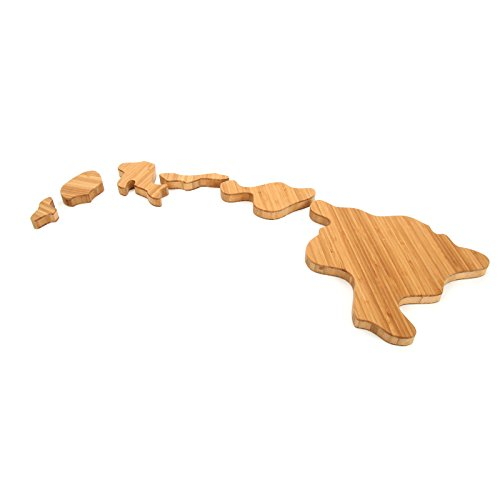 Cutting Board Company Hawaii Shaped Cutting Board, Bamboo Cheese Board (Oahu Marketplace)