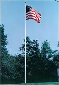 20' White Aluminum Sectional In-Ground Flagpole - Quinn Flags Brand by Quinn Flags
