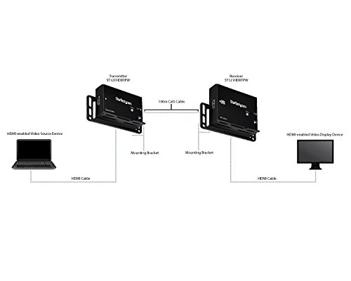 StarTech.com HDMI over CAT5 HDBaseT Extender - Power over Cable - Ultra HD 4K - 330 ft (100m) by StarTech (Image #5)