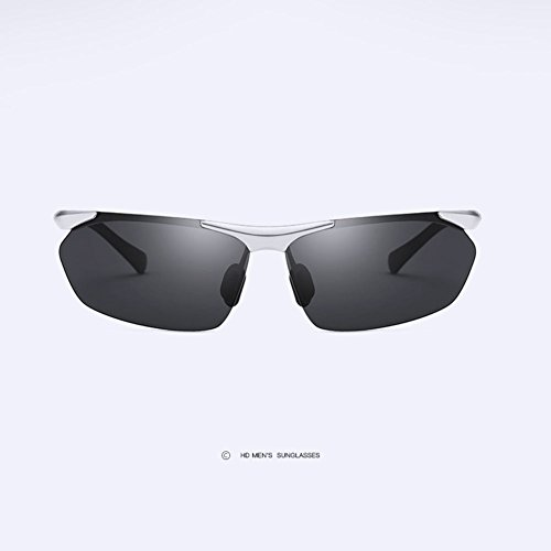 Sol Gafas Z Antideslumbrante Gafas Conductor para Deportivas Sin Al amp;HA Black Bordes Silver De MG De Gafas HD Hombre Polarizadas Gafas Conduciendo Sol SrvS7w6